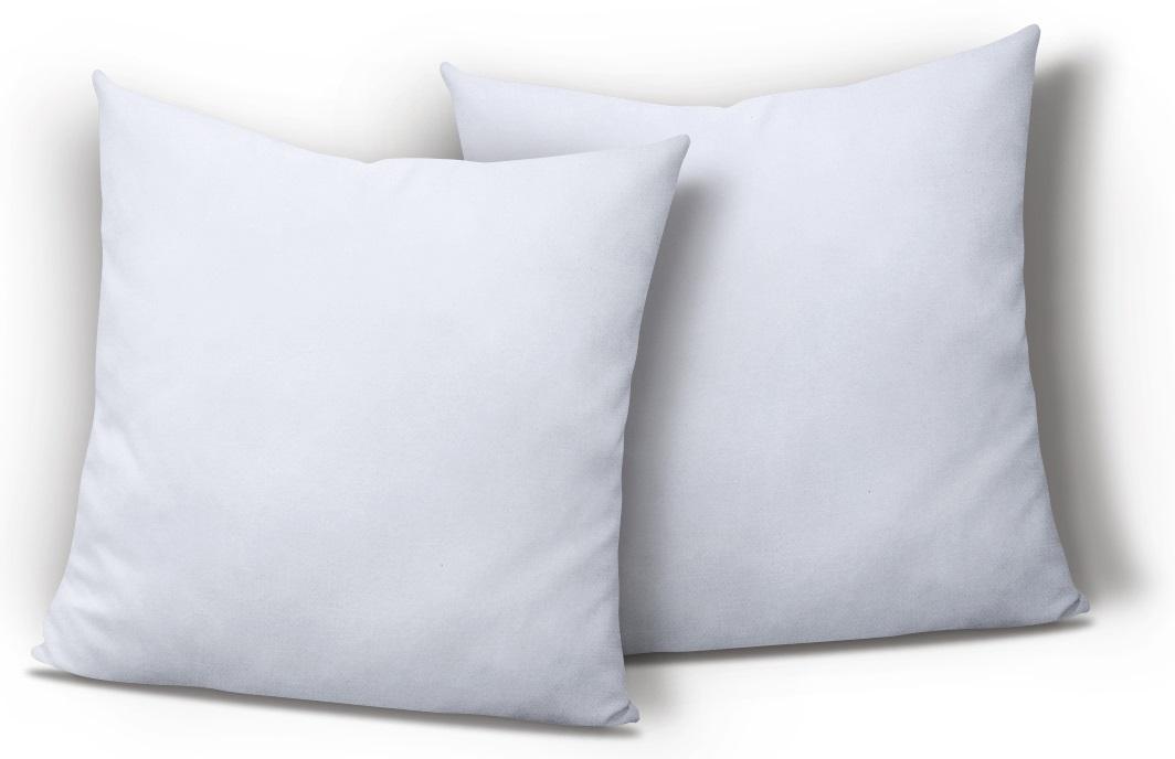 2er Pack Kissenbezug Kissenhülle 40x40 Cm Weiß Uni Jersey Baumwolle Set