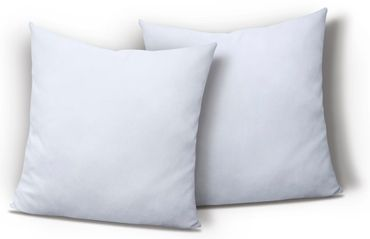 2er Pack Kissenbezug Kissenhülle 40x40 cm weiß Uni Jersey Baumwolle Set – Bild 1