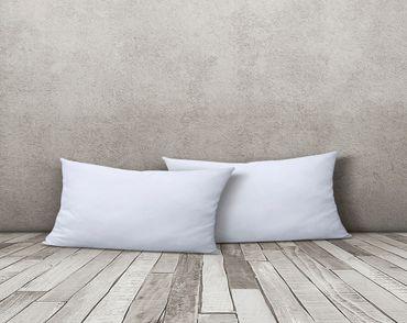2er Pack Kissenbezug Kissenhülle 40x80 cm weiß Uni Jersey Baumwolle Set – Bild 2