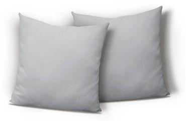 2er Pack Kissen Kopfkissen Bezug Hülle 80x80 cm silber Uni Jersey Baumwolle Set – Bild 1