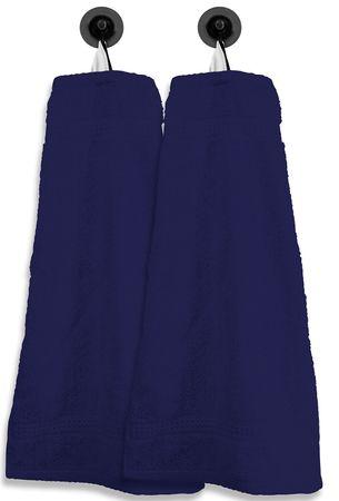 2 Gästetücher Gästehandtücher navy marine blau 30x50cm Set Baumwolle Frottee – Bild 1