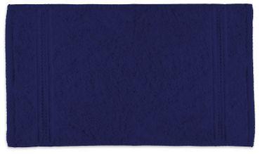 2 Gästetücher Gästehandtücher navy marine blau 30x50cm Set Baumwolle Frottee – Bild 2