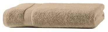 Duschtuch beige 70x140 cm Baumwolle schnelltrocknend Frottee Frottiertuch – Bild 3