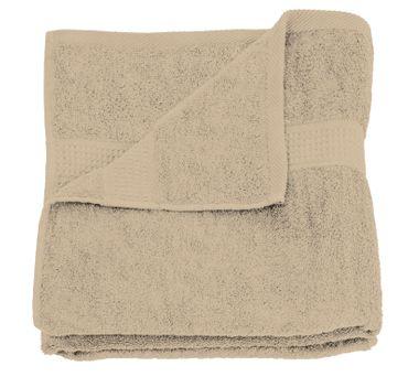 2 Handtücher beige 50x100 cm Set Baumwolle Handtuch Frottee flauschig weich – Bild 3