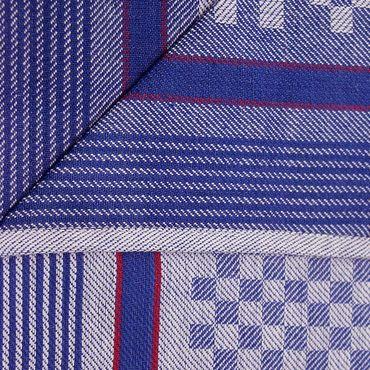 5 Grubentücher 45x90 cm blau Küchentücher Grubentuch Set 100% Baumwolle – Bild 3