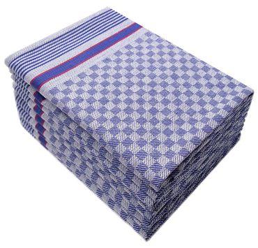 10 Grubentücher 45x90 cm blau Küchentücher Grubentuch Set 100% Baumwolle – Bild 1