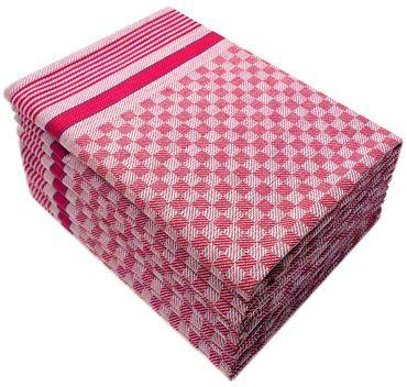10 Grubentücher 45x90 cm rot Küchentücher Grubentuch Set 100% Baumwolle – Bild 1
