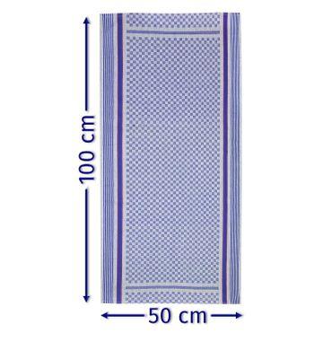 10 Grubentücher 50x100 cm blau Küchentuch Grubentuch Set 100% Baumwolle Premium – Bild 2