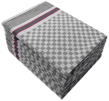 10 Grubentücher 50x100 cm anthrazit Küchentuch Grubentuch 100% Baumwolle Premium – Bild 1