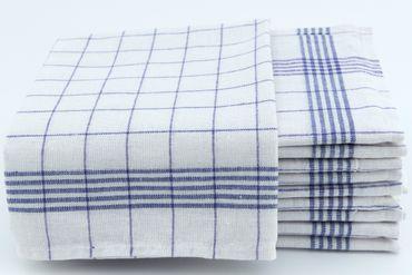 10 Geschirrtücher 50x70 cm blau Küchentücher Geschirrtuch Set 100% Baumwolle – Bild 1