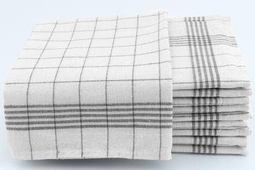 10 Geschirrtücher 50x70cm anthrazit Küchentücher Geschirrtuch Set 100% Baumwolle – Bild 1