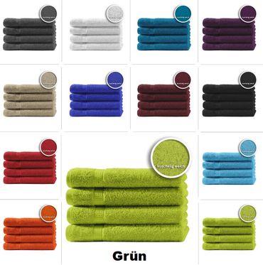 4er Set Gästetücher Handtücher Duschtücher Badetücher Frottee 100% Baumwolle – Bild 14