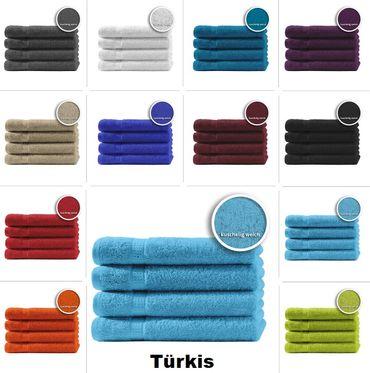 4er Set Gästetücher Handtücher Duschtücher Badetücher Frottee 100% Baumwolle – Bild 8