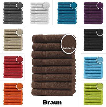 8er Set Gästetücher Handtücher Duschtücher Badetücher Frottee 100% Baumwolle – Bild 16