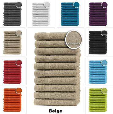 10er Set Gästetücher Handtücher Duschtücher Badetücher Frottee 100% Baumwolle – Bild 10