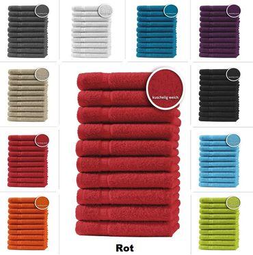 10er Set Gästetücher Handtücher Duschtücher Badetücher Frottee 100% Baumwolle – Bild 13