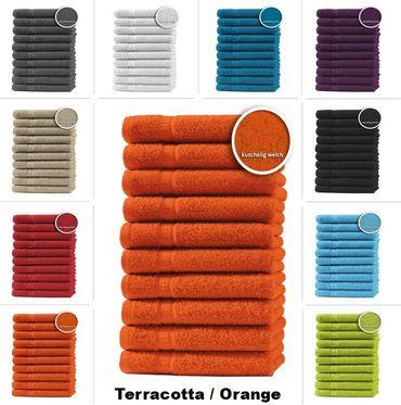 10er Set Gästetücher Handtücher Duschtücher Badetücher Frottee 100% Baumwolle – Bild 15