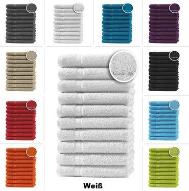 10er Set Gästetücher Handtücher Duschtücher Badetücher Frottee 100% Baumwolle – Bild 3