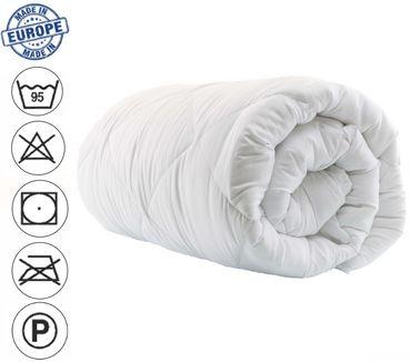 Bettdecke Sommer 200x220 cm Steppdecke weiß Mikrofaser Allergiker geeignet – Bild 5