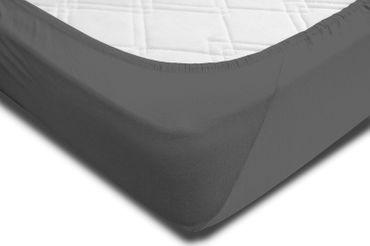 Spannbettlaken 180x200 - 200x220 cm anthrazit Elasthan Boxspringbett Wasserbett – Bild 4