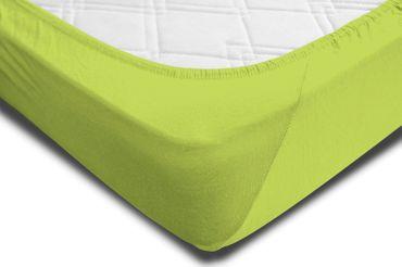 Spannbettlaken 180x200 - 200x220 cm apfelgrün Elasthan Boxspringbett Wasserbett – Bild 4