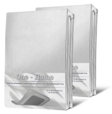 2 Spannbettlaken 140-160 cm x 200-220 cm weiß Elasthan Boxspringbett Wasserbett – Bild 1