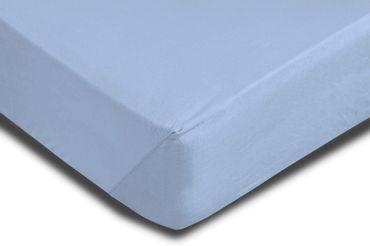 2 Spannbettlaken 180x200 - 200x220 cm hellblau Elasthan Boxspringbett Wasserbett – Bild 3
