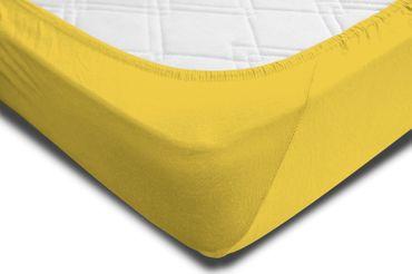 2 Spannbettlaken 180x200 - 200x220 cm gelb Elasthan Boxspringbett Wasserbett – Bild 4