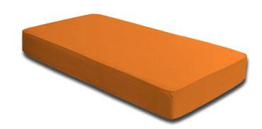 2 Spannbettlaken 180x200 - 200x220 cm orange Elasthan Boxspringbett Wasserbett – Bild 2