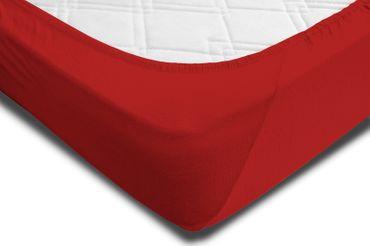 2 Spannbettlaken 180x200 - 200x220 cm rot Elasthan Boxspringbett Wasserbett – Bild 4