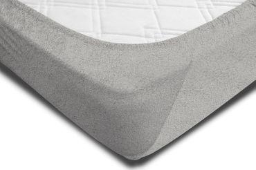Spannbettlaken FROTTEE 140x200 cm - 160x200 cm silber Spannbetttuch Bettlaken – Bild 2