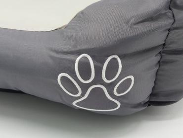 Hundebett Hundekissen 60x40 cm grau kleine Hunde Hundesofa Hundekorb Tierbett – Bild 2