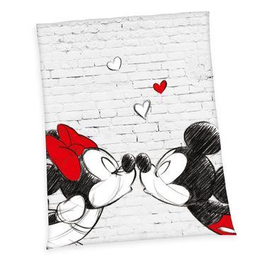 Disney Mickey & Minnie Flauschdecke Fleecedecke Kuscheldecke grau 150x200 cm – Bild 1