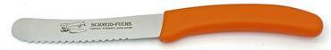 6 Brötchenmesser Tafelmesser orange Frühstücksmesser Gemüsemesser Rostfrei – Bild 2