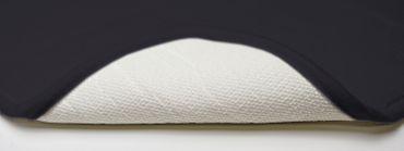 WC-Vorleger mit Ausschnitt 45x45 cm schwarz Uni Badematte Badteppich waschbar – Bild 2