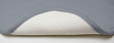 2 teilig Badgarnitur grau WC-Vorleger Badematte Badteppich Duschvorleger Set – Bild 4