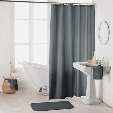 Duschvorhang 180x200 cm wasserdicht Uni Badewannen Vorhang inklusive 12 Ringe – Bild 19