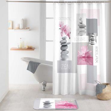 Duschvorhang 180x200 cm wasserabweisend Badewannen Vorhang inklusive 12 Ringe – Bild 12