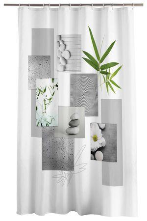Duschvorhang 180x200 cm wasserabweisend Badewannen Vorhang inklusive 12 Ringe – Bild 15