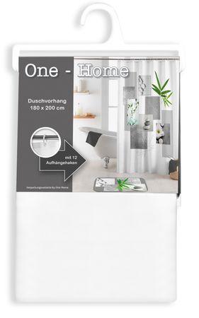 Duschvorhang 180x200 cm wasserabweisend Badewannen Vorhang inklusive 12 Ringe – Bild 17