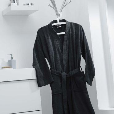Damen Herren Bademantel Morgenmantel Sauna Frottee Unisex Baumwolle Schalkragen – Bild 12