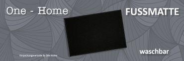 Fußmatte Türmatte 40x60 cm schwarz Eingangsmatte Schmutzfangmatte Fußabtreter – Bild 3