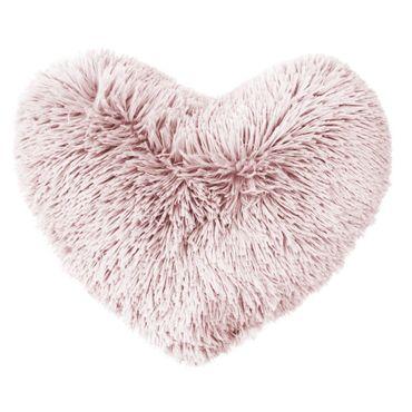Herzkissen Dekokissen 40 x 40 cm rosa Zierkissen Sofakissen  Flauschkissen – Bild 1