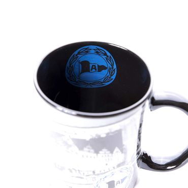 Arminia Bielefeld Tasse Tee / Kaffeebecher 0,3 Liter Filmstreifen grau schwarz – Bild 4