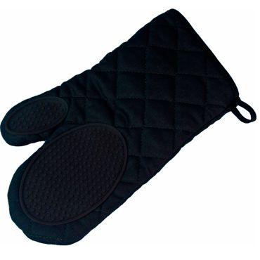 Ofenhandschuh Topfhandschuh Backhandschuh schwarz Baumwolle Silikon Mischung – Bild 1