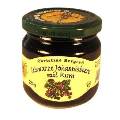 Fruchtaufstrich - Schwarze Johannisbeere mit Rum (225 g)