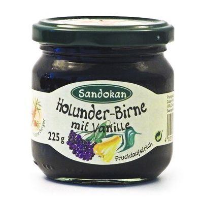 Holunder-Birne Fruchtaufstrich mit Vanille (225 g)