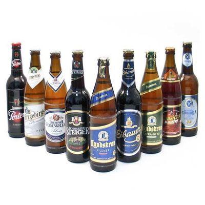 """Probierpaket """"Sächsische Biere"""" (9 Flaschen / 5,4 % vol.)"""