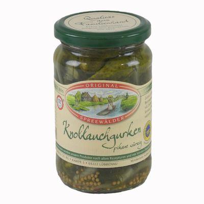 Krügermanns Original Spreewälder Knoblauchgurken (370 ml Glas)