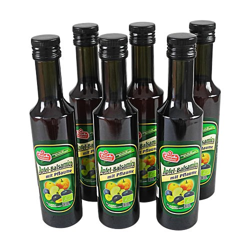 bio apfel balsamico pflaume 6er pack 6 flaschen 250 ml spreewald shop spreewald produkte. Black Bedroom Furniture Sets. Home Design Ideas